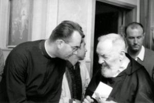 Abbé Derobert con Padre Pio
